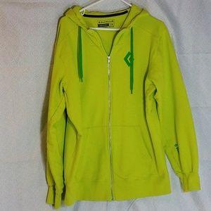 Black Diamond neon green hoodie, l